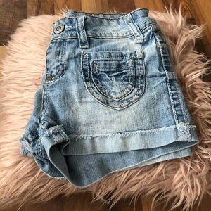 Wallflower Light Wash Shorts - Size 3